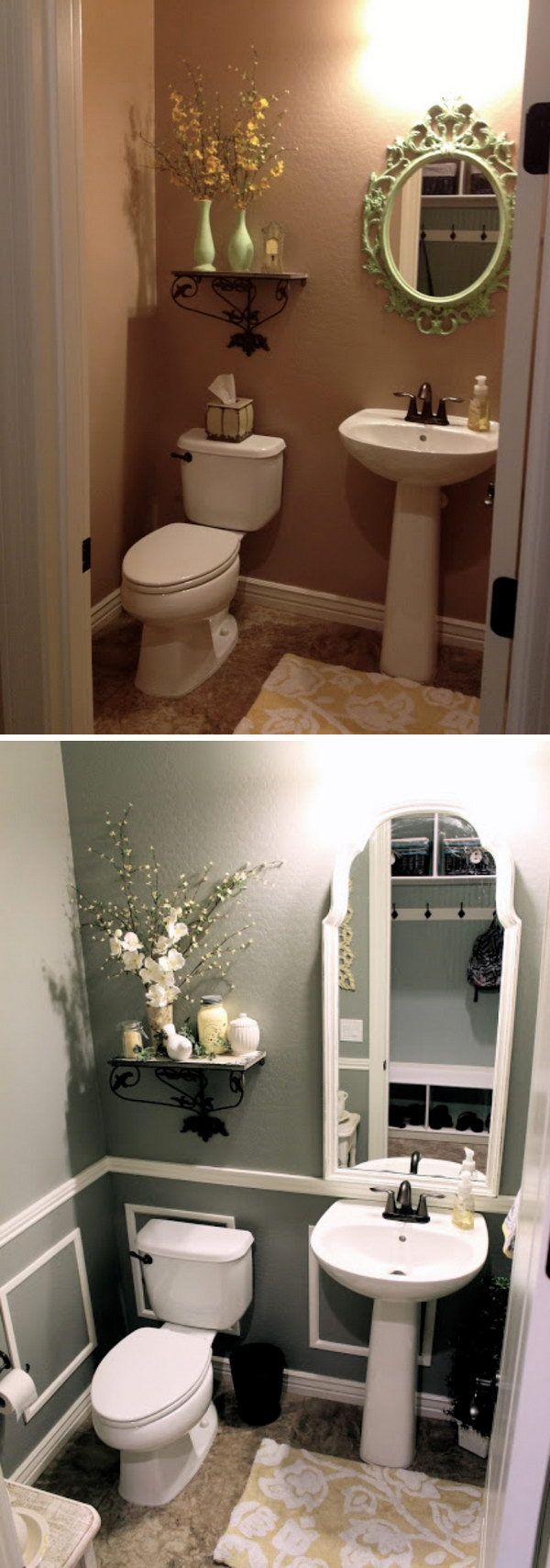Thrift Small Bathroom Makeover