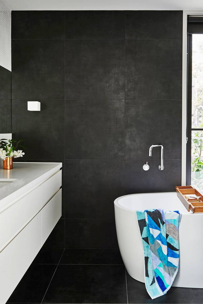 well-maintained bathroom with a chill vibe makes for a great spa bathroom we'd relax in any day