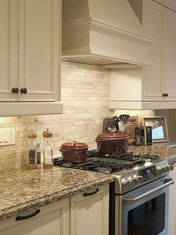 Travertine Kitchen Backsplash Tile