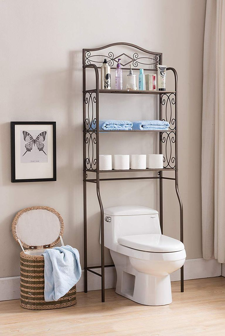 Add Shelving Over the Toilet