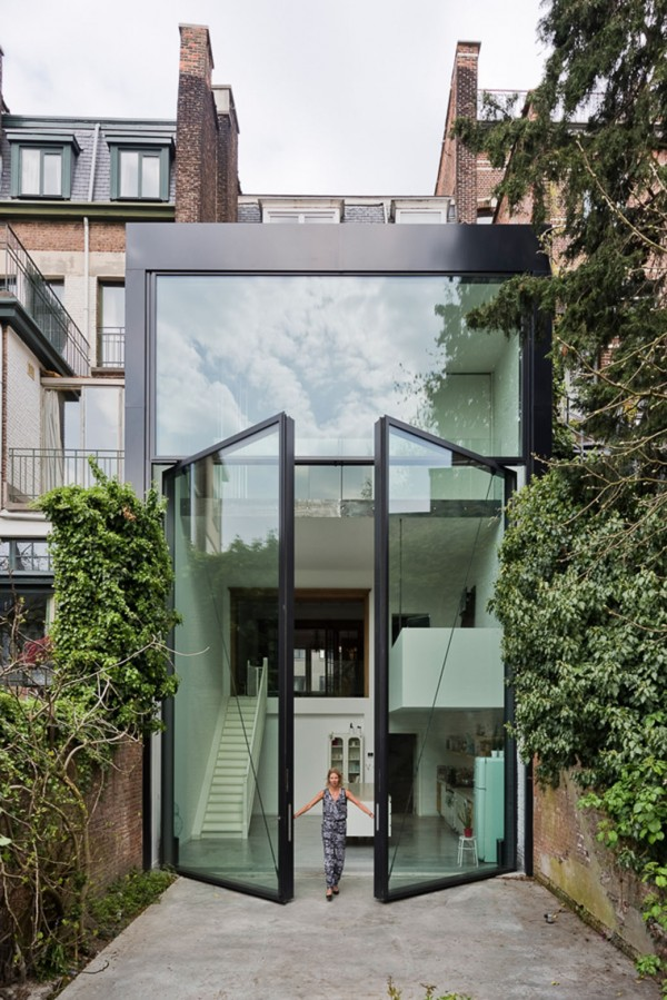 Amazing oversized glass doors