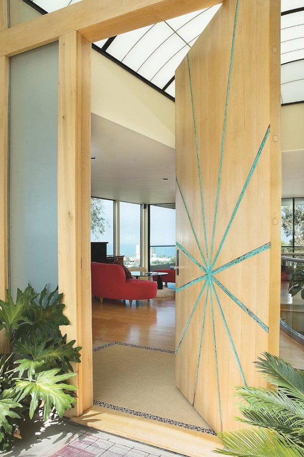 Artistic front door design