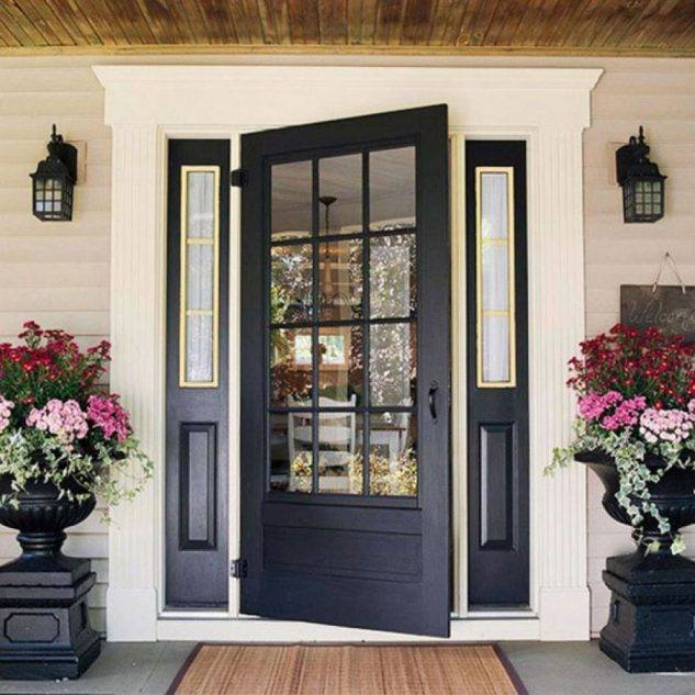 Black main entrance door design ideas