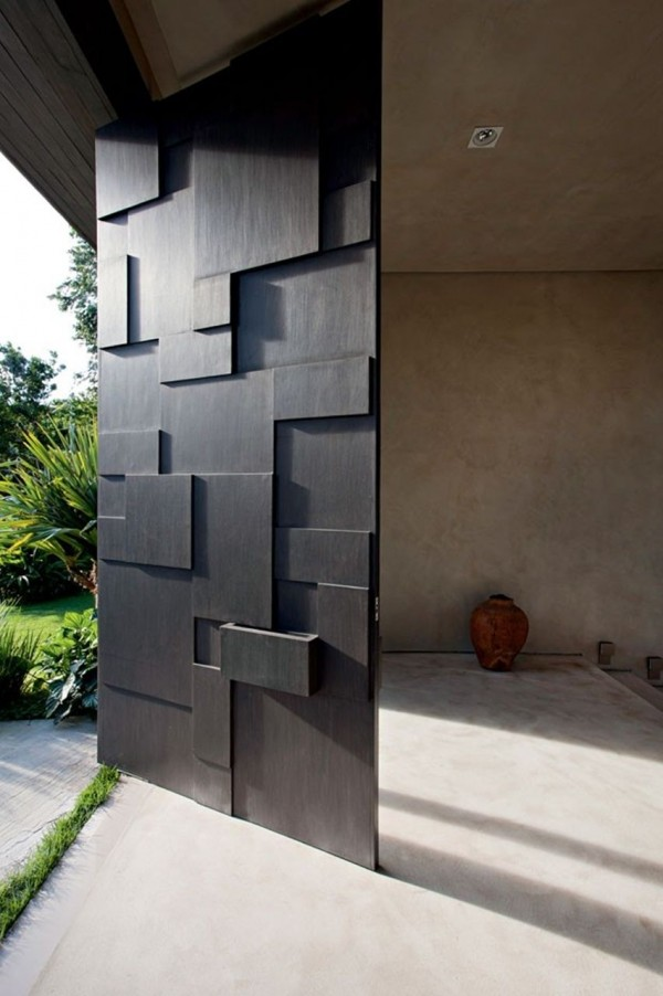 Blocky wood door pattern