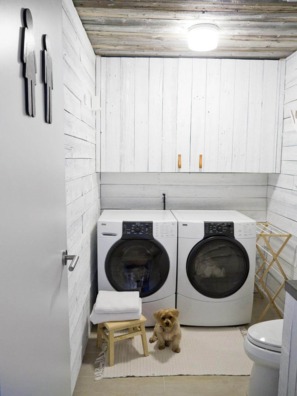 Contemporary Cabin Restroom Laundry Room