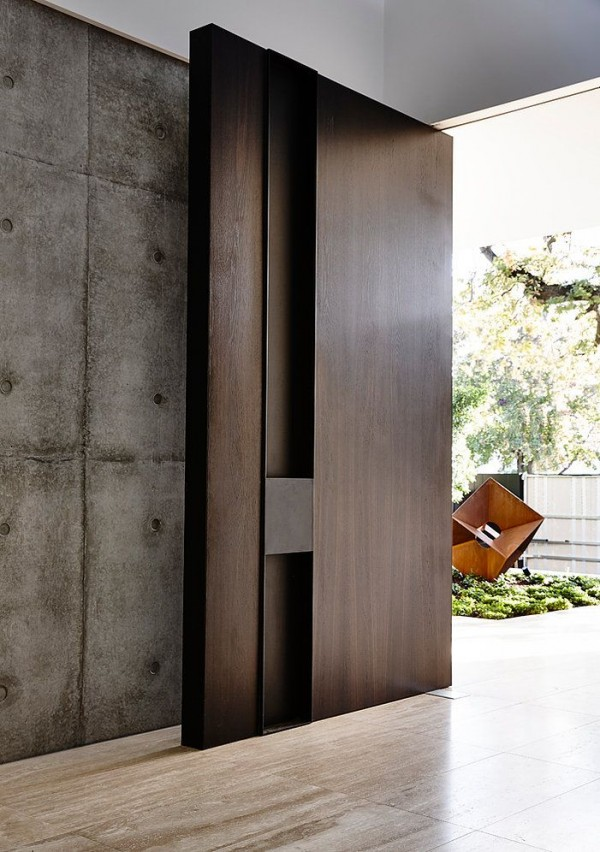 Natural minimalist front door