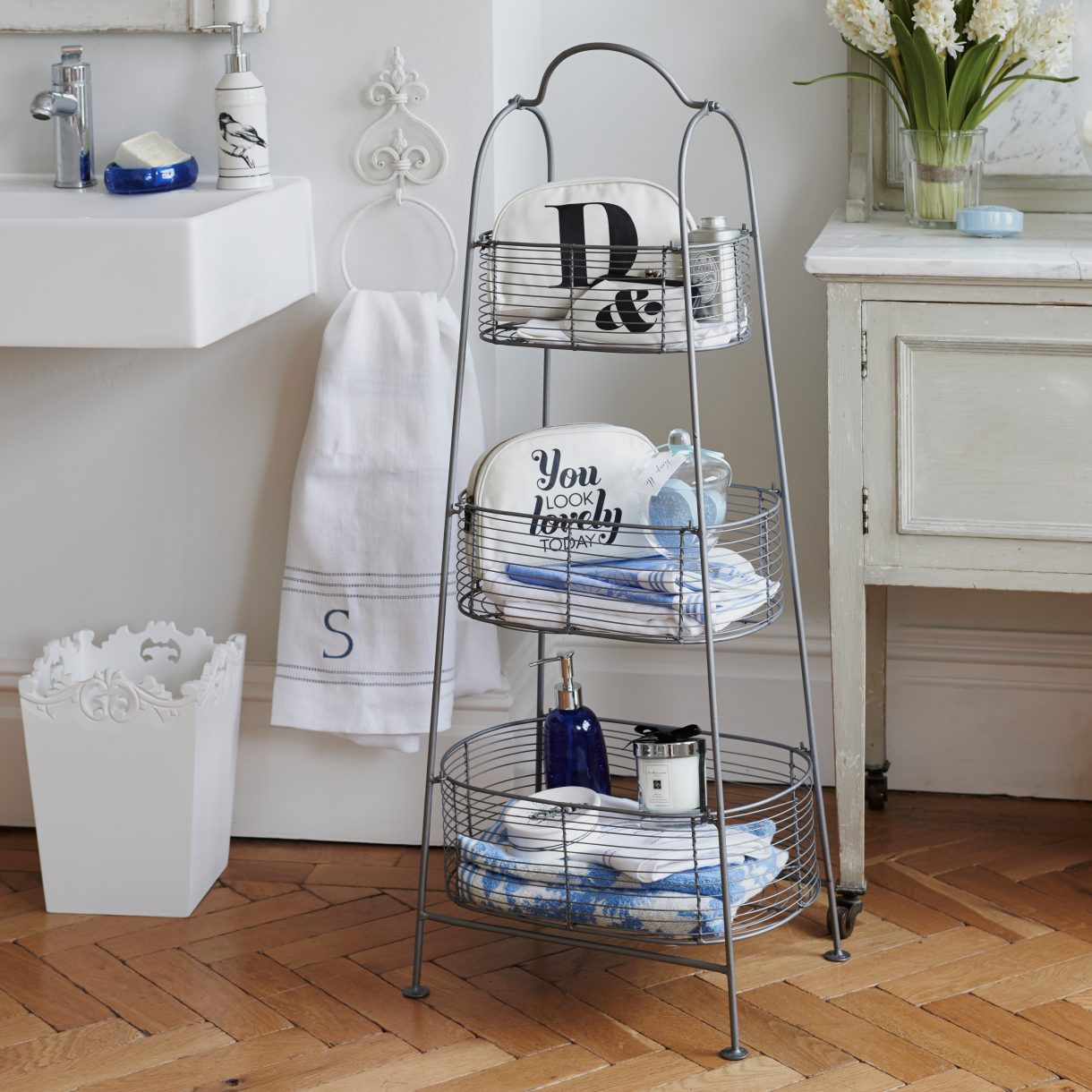 Think about freestanding accessories
